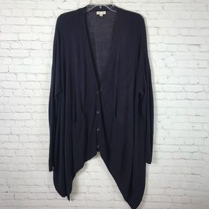 Silence + Noise Cardigan Sweater Size Large Purple